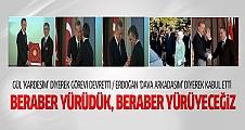Erdoğan ve Gül'den devir teslimde 'Birlik' mesajları
