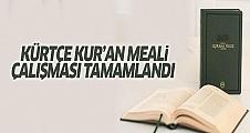 Kürtçe Kur'an meali çalışması tamamlandı