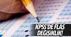 2015/2 KPSS tercih kılavuzunda değişiklik