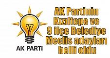 AK Partinin Kızıltepe ve 9 ilçe Belediye Meclis adayları belli oldu