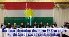 Kürd partilerinden devlet ve PKK'ye çağrı: Kürdistan'da savaş sonlandırılsın