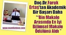 Doç.Dr. Faruk Ertaş'tan Akademik Bir Başarı Daha