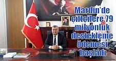 Mardin'de çiftçilere 79 milyonluk destekleme ödemesi başladı