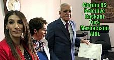 Mardin BŞ Belediye Başkanı Türk Mazbatasını Aldı.
