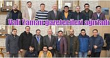 Vali Yaman gazetecileri ağırladı