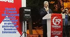 """Yücedağ: 15 Temmuz  millet olmanın asaletini, birlikteliğini ve gücünü gösterdiğimiz Demokrasi Zaferimizdir."""" ."""