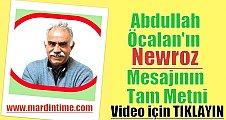 Abdullah Öcalan'ın Öcalan'ın Newroz Mesajının Tam Metni