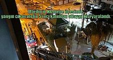 Mardin'in Kızıltepe ilçesinde yangın çıkan otelin 5'inci katından atlayan kişi yaralandı.