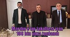 Mardin'e tıp fakültesi için 108 bin imza toplandı