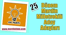 25.Dönem Mardin Milletvekili Aday Adayları
