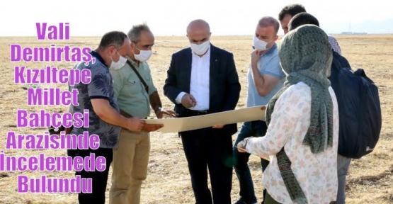 Vali Demirtaş, Kızıltepe Millet Bahçesi Arazisinde İncelemede Bulundu