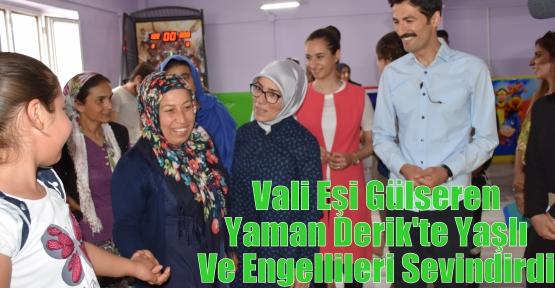 Vali Eşi Gülseren Yaman Derik'te Yaşlı Ve Engellileri Sevindirdi
