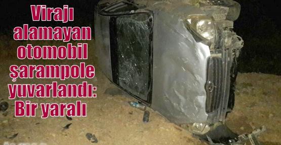 Virajı alamayan otomobil şarampole yuvarlandı: Bir yaralı