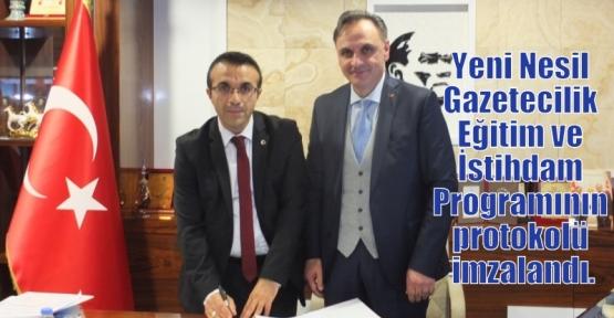 Yeni Nesil Gazetecilik Eğitim ve İstihdam Programının protokolü imzalandı.