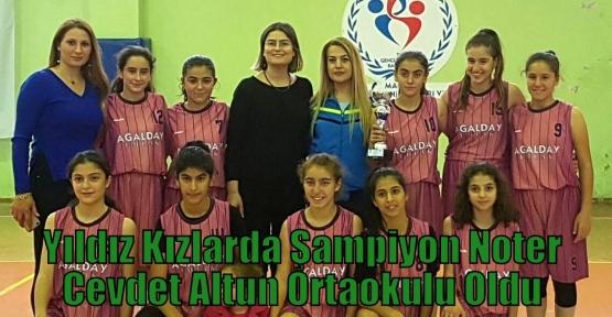Yıldız Kızlarda Şampiyon Noter Cevdet Altun Ortaokulu Oldu