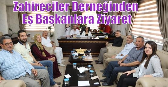 Zahireciler Derneğinden Eş Başkanlara Ziyaret
