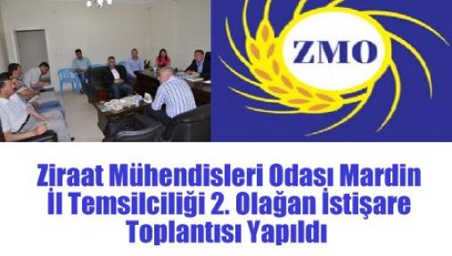 Ziraat Mühendisleri Odası Mardin İl Temsilciliği 2. Olağan İstişare Toplantısı Yapıldı