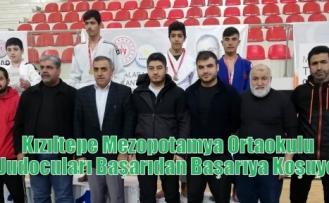 Kızıltepe Mezopotamya Ortaokulu  Judocuları Başarıdan Başarıya Koşuyor