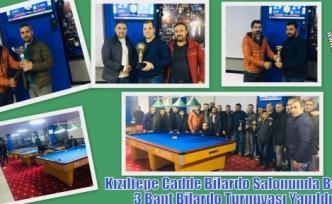Kızıltepe Cadde Bilardo Salonunda Bölge 3 Bant Bilardo Turnuvası Yapıldı