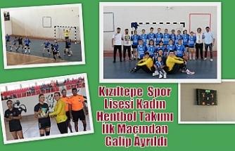 Kızıltepe Spor Lisesi Kadın Hentbol Takımı İlk Maçından Galip Ayrıldı