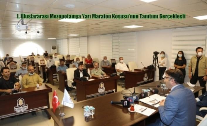 1. Uluslararası Mezopotamya Yarı Maraton Koşusu'nun Tanıtımı Gerçekleşti
