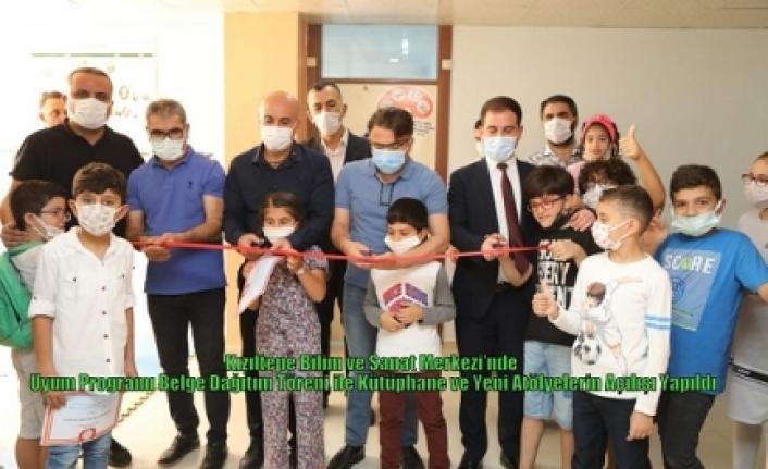 Kızıltepe Bilim ve Sanat Merkezi'nde Uyum Programı Belge Dağıtım Töreni ile Kütüphane ve Yeni Atölyelerin Açılışı Yapıldı